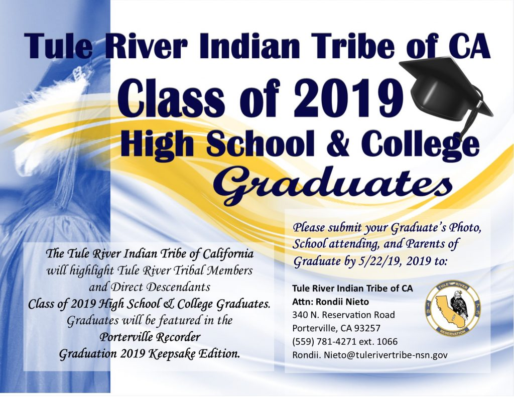 Class of 2019 High School & College Graduates | Tule River Indian